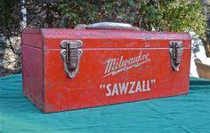 Tool Box Metal Vintage Milwaukee by CasaKarmaDecor on Etsy, $50.00