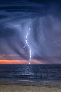 tulipnight: City Beach Lightning Show by Photography John Marshall