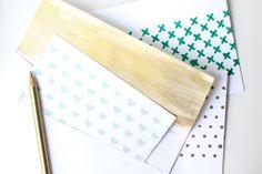 DIY patterned stationary Στένσιλ από χαρτόνι
