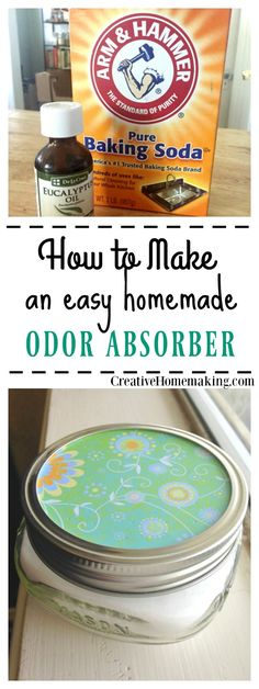 Easy DIY odor absorber made with baking soda and your favorite essential oil.