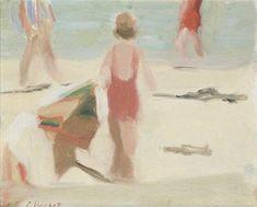 clarice beckett Artist Painting, Figure Painting, Watercolor Paintings, Australian Painters, Australian Artists, Seaside Art, Beach Art, Naive, Z Arts