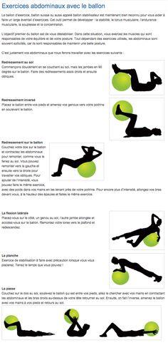 Exercices abdominaux avec le ballon | Abdominals exercises with ball  lire la suite / http://www.sport-nutrition2015.blogspot.com
