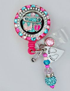 DELUXE Labor and Delivery Bling Retractable Badge by Badgetopia