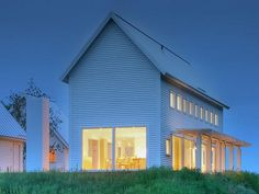 Modern Farmhouse - I'd swap out some details with more traditional (columns & porch but nice design. Modern Farmhouse Exterior, Farmhouse Design, Farmhouse Style, Residential Architecture, Modern Architecture, Future House, My House, Mini Loft, Casas Containers