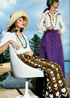Givenchy Nouvelle Boutique & Pierre Balmain Pret a Porter, L'Officiel magazine 1974