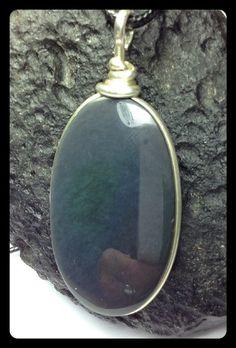Obsidian Rainbow Huichol Silber  von LaSombrilla auf DaWanda.com
