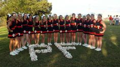 Cheer photo with flower letters!