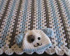 baby boy gift set, infant stroller travel blanket, newborn crochet blanket, crocheted blanket, crocheted afghan, blue gray white