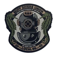 98ad4bbb Muff Divers Union PVC Morale Patch Pin And Patches, Pvc Patches, Tactical  Patches,