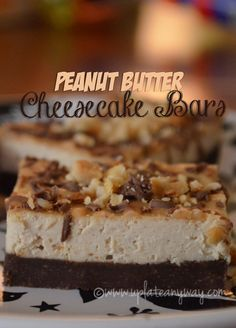 Peanut butter cheesecake bars | Up Late Anyway Low Carb Recipes  Plenty of subs to make this even more healthy!
