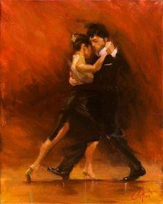 "Red-Tango-II, original dancing oil painting by Christopher Clark, fine art, #christopherclarkart <span class=""edit-link btn btn-inverse btn-mini""><a class=""post-edit-link"" href=""http://www.christopherclark.com/wp-admin/post.php?post=7313&action=edit"" title=""Edit"">Edit</a></span>"