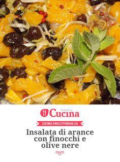Insalata di arance con finocchi e olive nere