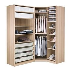 PAX Wardrobe, white stained oak effect, Nexus Vikedal - standard hinges - IKEA