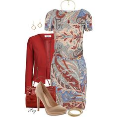 A fashion look from September 2014 featuring Etro dresses, ONLY blazers y Cole Haan pumps. Browse and shop related looks.