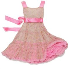 Lilpicks couture Pastel Pink Flared Pleated Dress #pink ...