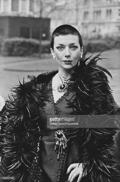 English actress Jacqueline Pearce posed dressed in character as Servalan during the press reception from the science fiction television series Blake's 7 in London on May Science Fiction, Mad Science, Best Sci Fi Series, Sci Fi Tv Shows, Short Sassy Hair, Horror Icons, English Actresses, Sci Fi Movies, London