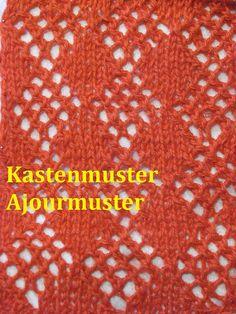 Ajourmuster 07* Stricken*Muster für Pullover*Mütze*Tutorial Handarbeit K...