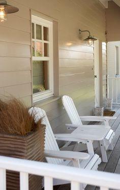 White Adirondack chairs say summer to me.