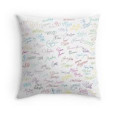 Autographs - Disney pillow, disney phone case Disneyland Walt Disney World