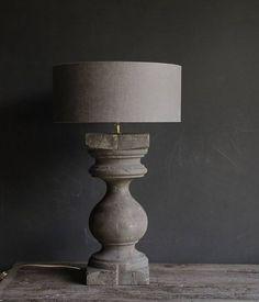oud houten Baluster lamp voet