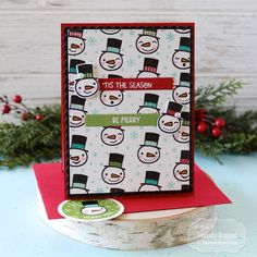 A Paper Melody: Let's Celebrate Christmas in July! Christmas In July, Christmas Cards, Celebrating Christmas, Snowman Faces, Colored Envelopes, Custom Envelopes, Lets Celebrate, My Stamp, Clear Stamps
