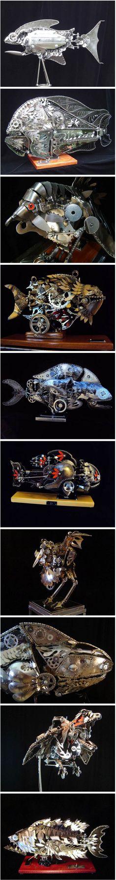 Industrial kinetic sculptures