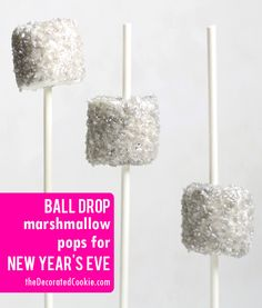 79ba3c3aab ball drop marshmallow pops for New Year s Eve with video how-tos