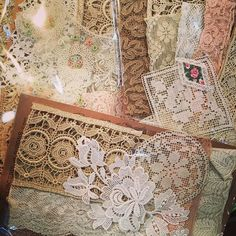 Vintage and antique lace sample packs at our booth #69 AQC Royal Exhibition Building Carlton #luccellomelbourne #vintagelace #antiquelace #aqc2018