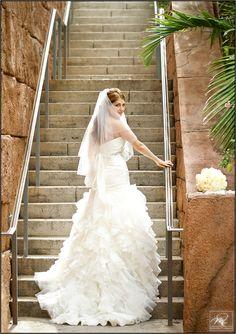 Atlantis Resort Wedding. Stairway www.marionixon.com