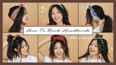 6 Ways to Rock Headbands This Summer! Hair Inspo, Hair Inspiration, Hey Girl, Hairstyle, Bandana Headbands, Rock, Summer Youtube, Bandanas, Gardens