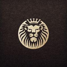 Lion Logo Design Concept ☆★☆ We offer professional, unique and creative logo designs. For more details PM us. Logo Lion, Tiger Logo, Lion Icon, Royal Logo, Money Logo, Lion Design, Minimal Logo Design, Shield Logo, Unique Logo