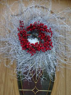 Items similar to Christmas Wreath Large Wreath White Wreath Christmas Gift Holiday Wreath Red Berry Wreath Twig Wreath Front Door Wreath on Etsy Twig Wreath, White Wreath, Wreath Crafts, Antler Wreath, Wreath Ideas, Thanksgiving Wreaths, Easter Wreaths, Holiday Wreaths, Red Berry Wreath