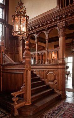 Victorian Interior staircase More #ad