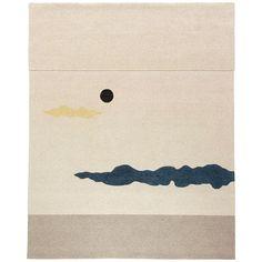 George Nakashima; Wool 'Dark Moon I' Tapestry by Edward Fields, 1959.