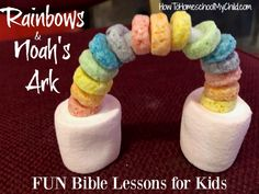 Fun Bible Lessons for Kids with Bible Story Snacks at VBS Sunday School