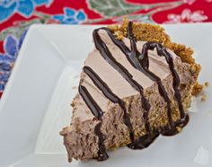 Chocolate Cream Pie with a Graham Cracker Crust - only the crust is baked