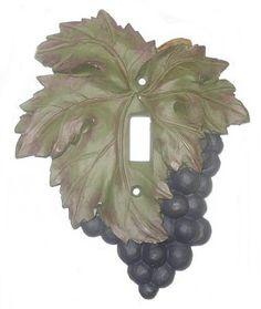 Vicki Lane Designs Grape Single Cover Switch Plate at ATG Stores Kitchen Themes, Kitchen Decor, Kitchen Ideas, Kitchen Dinning, Dining Room, Switch Plate Covers, Switch Plates, Deep Purple Color, Tuscan Design