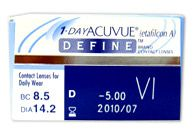 1 Day Acuvue Define Vivid. LOVE these things...