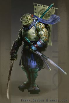 Ninja Turtle Fan Art by KrisCooper Dungeons And Dragons Characters, Dnd Characters, Fantasy Characters, Ninja Turtles Art, Teenage Mutant Ninja Turtles, Ninja Rpg, Comic Books Art, Comic Art, Character Concept