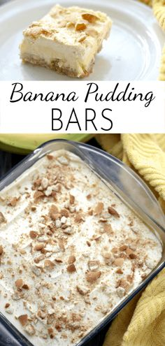 Pudding, bananas and wafer cookies create delicious layers of creamy goodness in., Desserts, Pudding, bananas and wafer cookies create delicious layers of creamy goodness in these simple Banana Pudding Bars. Dessert Oreo, Banana Dessert Recipes, Dessert Bars, Layered Pudding Desserts, Easy Banana Pudding, Banana Pudding Recipes, Banana Pudding Cookies, Wafer Cookies, Yummy Cookies