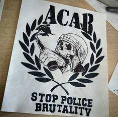 Acab Tattoo, Punk Tattoo, Football Tattoo, Punks Not Dead, Art Inspo, Pencil Drawings, Badge, Police, Freedom
