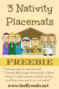 {free} Nativity Placemats | In All You Do