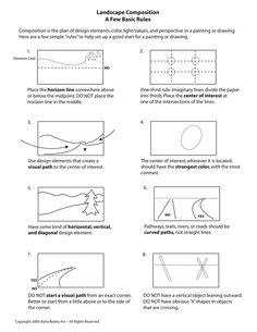 Landscape Composition: A Few Basic Rules. Downloadable instructional page about composition for landscapes.