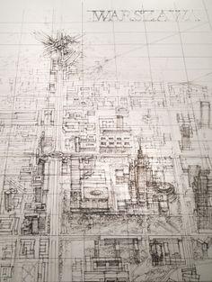 sketches, drawings, w/b by Katarzyna Piekarczyk, via Behance