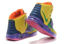 detailed pictures e29b1 a7ef2 Nike Air Yeezy 2 Men s Shoes(4146) in Yellow Green Purple XY