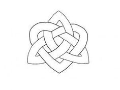 How to draw a Celtic heart knot, step by step