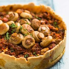 The Mushroom Bolognaise Quiche is a tasty filling midweek dinner meal. Savoury Mince, Savory Tart, Quiche, Mushroom Bolognese, Mince Recipes, Mushroom Recipes, Perfect Food, Winter Food, Light Recipes