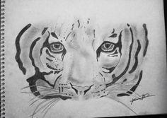 Tigre Moose Art, Animals, Drawings, Animais, Animales, Animaux, Animal, Dieren