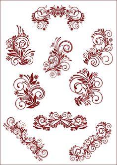 Flourish Curls Machine Embroidery Designs