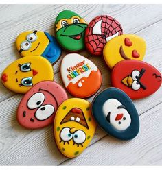 Cartoon Easter egg cookies